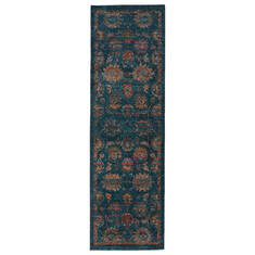 Jaipur Living Myriad Blue Runner 6 to 9 ft Polypropylene and Polyester Carpet 139121