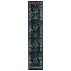 Jaipur Living Myriad Blue Runner 10 to 12 ft Polypropylene and Polyester Carpet 139152