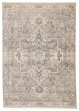 Jaipur Living Vienne Grey Rectangle 10x12 ft Polyester and Viscose Carpet 139734