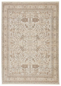 Jaipur Living Vienne White Rectangle 10x12 ft Polyester and Viscose Carpet 139754