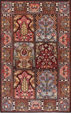 "Hamedan Multicolor Hand Knotted 2'6"" X 4'0""  Area Rug 905-139959"