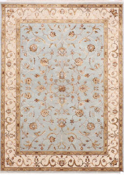 "Jaipur Blue Hand Knotted 5'0"" X 7'1""  Area Rug 905-139966"