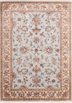 "Jaipur Blue Hand Knotted 5'1"" X 7'2""  Area Rug 905-139974"