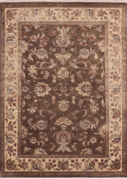 "Jaipur Brown Hand Knotted 5'1"" X 7'1""  Area Rug 905-139978"