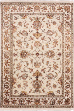 "Jaipur White Hand Knotted 5'1"" X 7'2""  Area Rug 905-139980"