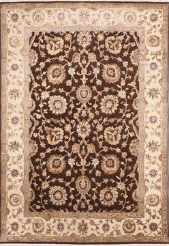 "Jaipur Brown Hand Knotted 4'11"" X 7'2""  Area Rug 905-139988"