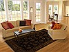 Agra Black Hand Knotted 62 X 810  Area Rug 251-14060 Thumb 4