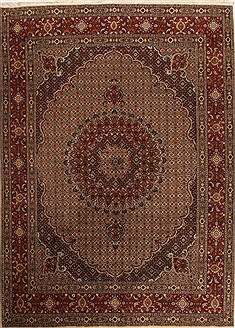 Persian Mood Multicolor Rectangle 8x11 ft Wool Carpet 14172