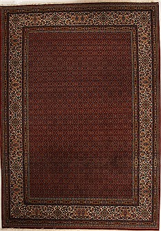 Persian Mood Red Rectangle 8x11 ft Wool Carpet 14175