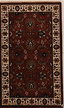 "Agra Brown Hand Knotted 3'0"" X 5'1""  Area Rug 251-14213"