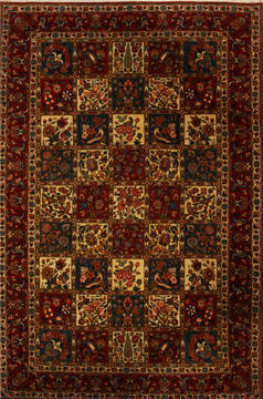 Persian Bakhtiar Multicolor Rectangle 8x11 ft Wool Carpet 14225
