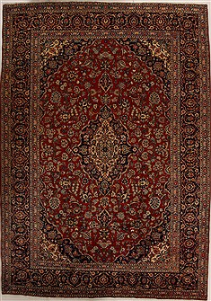 Persian Mashad Red Rectangle 10x14 ft Wool Carpet 14258