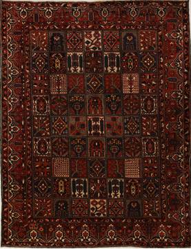 Persian Bakhtiar Multicolor Rectangle 10x13 ft Wool Carpet 14259