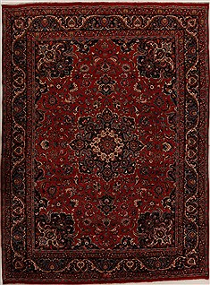 "Khorasan Red Hand Knotted 9'9"" X 13'5""  Area Rug 251-14264"
