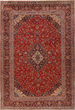 Persian Ardakan Red Rectangle 10x14 ft Wool Carpet 14277