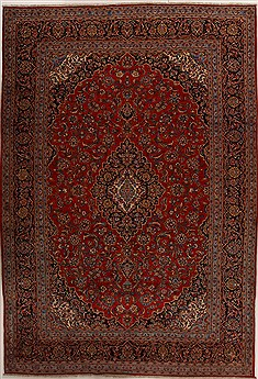 Persian Ardakan Red Rectangle 10x14 ft Wool Carpet 14278