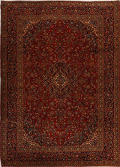 Persian Ardakan Red Rectangle 10x14 ft Wool Carpet 14280