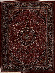 "Khorasan Red Hand Knotted 10'0"" X 13'5""  Area Rug 251-14284"