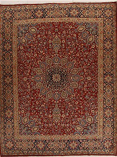 Persian Kerman Red Rectangle 10x13 ft Wool Carpet 14297