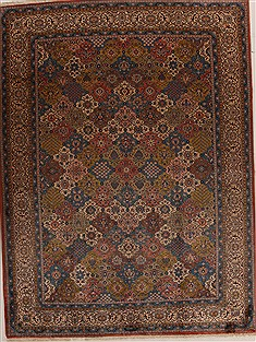 "Mahal Multicolor Hand Knotted 9'5"" X 12'0""  Area Rug 251-14298"