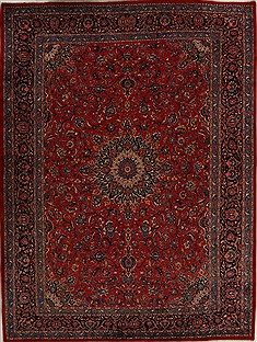 "Khorasan Red Hand Knotted 9'10"" X 13'0""  Area Rug 251-14303"