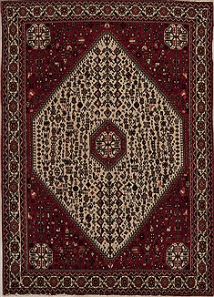 Persian Abadeh Beige Rectangle 5x7 ft Wool Carpet 14318