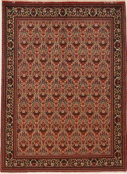 Persian Abadeh Multicolor Rectangle 5x7 ft Wool Carpet 14319