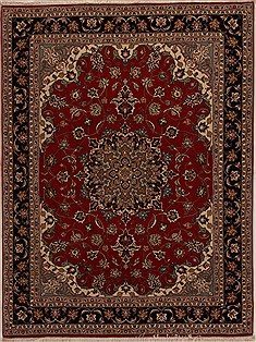 Persian Tabriz Red Rectangle 5x7 ft Wool Carpet 14324