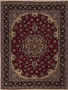 Persian Tabriz Red Rectangle 5x7 ft Wool Carpet 14325