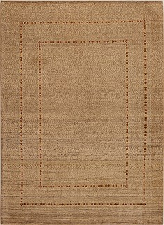 Persian Gabbeh Beige Rectangle 5x7 ft Wool Carpet 14355