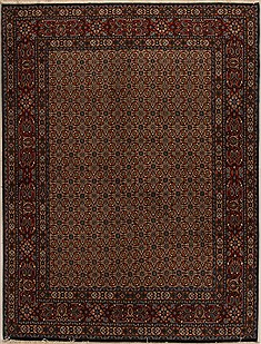 Persian Mood Beige Rectangle 5x7 ft Wool Carpet 14360