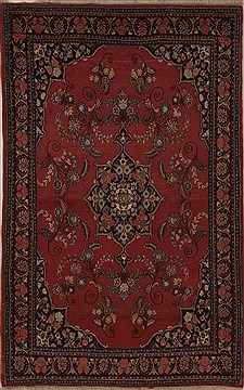 Persian Bidjar Red Rectangle 5x7 ft Wool Carpet 14364