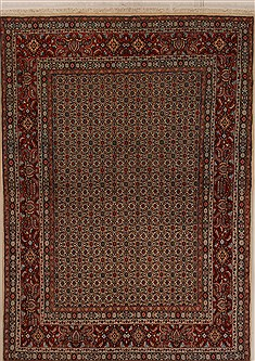 Persian Mood Multicolor Rectangle 5x7 ft Wool Carpet 14370