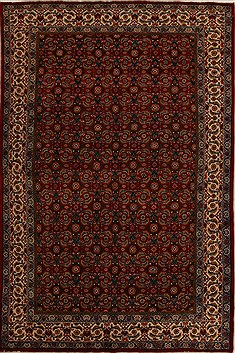 Indian Mahal Red Rectangle 7x10 ft Wool Carpet 14376