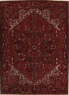 Persian Heriz Red Rectangle 8x11 ft Wool Carpet 14416