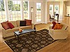 Modern Brown Hand Knotted 62 X 89  Area Rug 251-14439 Thumb 4