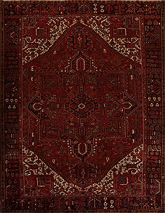 "Heriz Red Hand Knotted 9'10"" X 12'10""  Area Rug 251-14455"