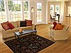Agra Black Hand Knotted 51 X 70  Area Rug 251-14514 Thumb 5