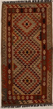 "Pakistani Kilim  Wool Multi-Color Area Rug  (3'3"" x 6'6"") - 251 - 14571"