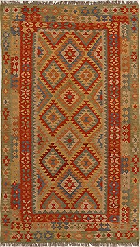 "Pakistani Kilim  Wool Multi-Color Area Rug  (5'0"" x 8'6"") - 251 - 14640"