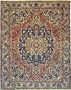 "Bakhtiar Yellow Hand Knotted 9'10"" X 12'5""  Area Rug 100-14709"