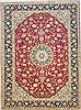 Isfahan Red Hand Knotted 97 X 132  Area Rug 100-14713 Thumb 0