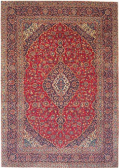 "Kashan Red Hand Knotted 9'2"" X 13'5""  Area Rug 100-14715"
