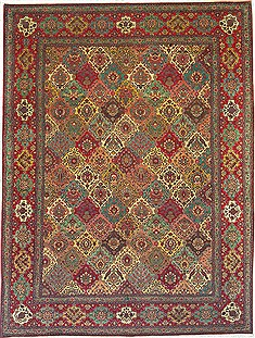 Persian Tabriz Multicolor Rectangle 10x13 ft Wool Carpet 14726