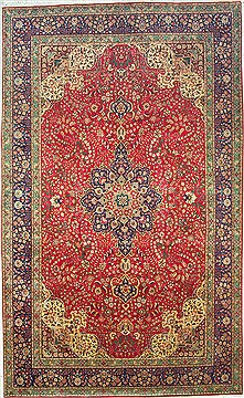 Persian Tabriz Purple Rectangle 11x16 ft Wool Carpet 14737
