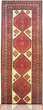 Persian Sarab Beige Runner 13 to 15 ft Wool Carpet 14752