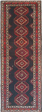 "Shahsavan Black Runner Hand Knotted 3'8"" X 9'9""  Area Rug 100-14774"