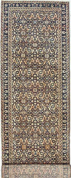 "Mahi Blue Runner Hand Knotted 3'5"" X 16'3""  Area Rug 100-14782"