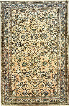 "Hamedan Grey Hand Knotted 6'9"" X 10'5""  Area Rug 100-14784"