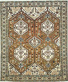 "Bakhtiar Brown Hand Knotted 10'9"" X 13'1""  Area Rug 100-14785"